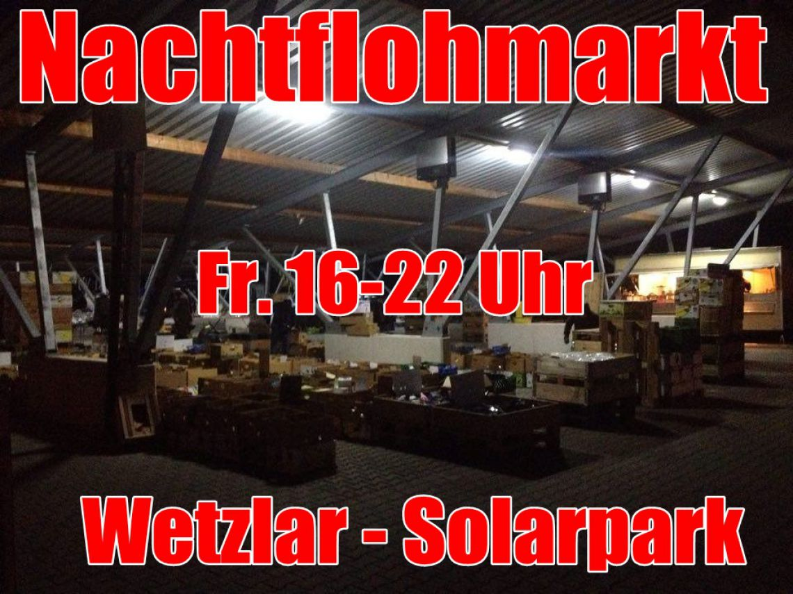 abend flohmarkt solarpark wetzlar 39 s event. Black Bedroom Furniture Sets. Home Design Ideas