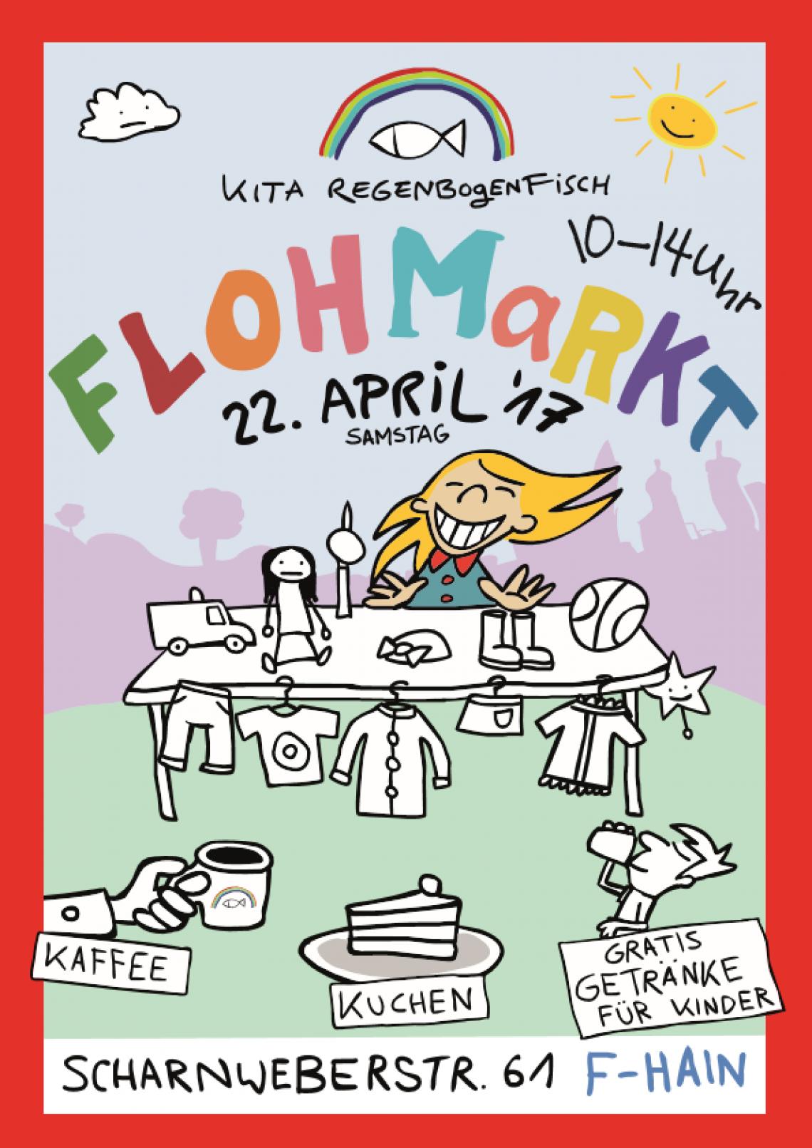 Flohmarkt Kita Regenbogenfisch in Berlin Friedrichshain