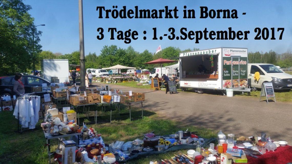 Antik- & Trödelmarkt Borna - 3 Tage 1.-3.September 2017